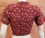 Block Printed  Cotton Blouse -  Size  -  34 , 36 , 38 , 42