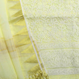 Elegant Kota & Cotton suit with Lucknow Chikankari work
