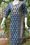 Block Printed Cotton Kurta with embroidery & gota
