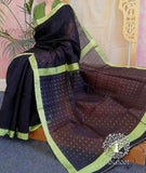 Elegant Matka Silk Saree with Woven sequins in the palla