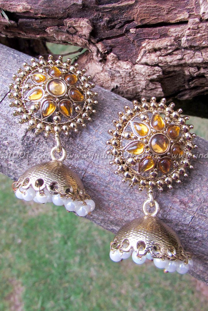 Designer Pearl & Kundan Earrings
