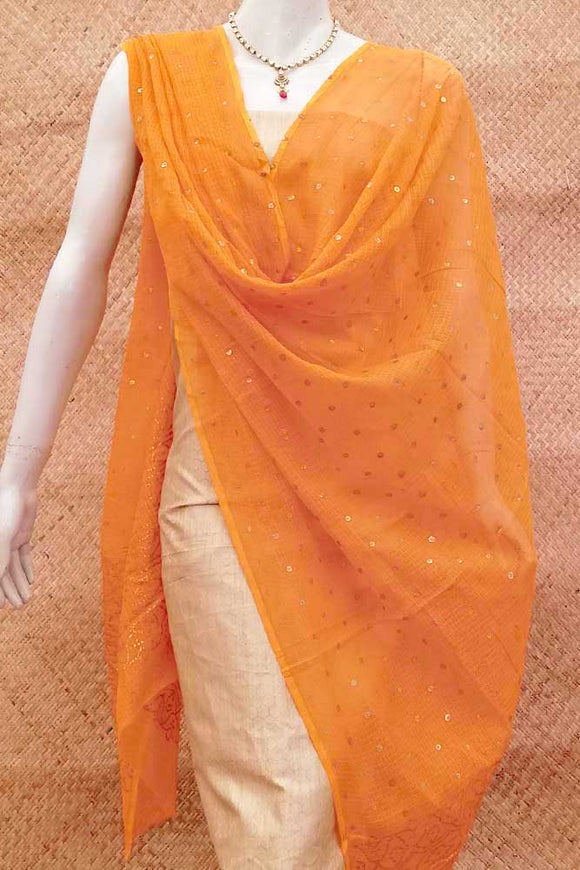 Beautiful Block Printed Kota Doria Dupatta
