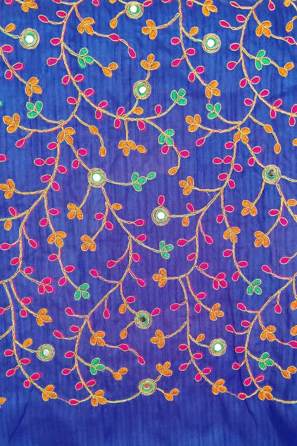 Art silk fabric with embroidery