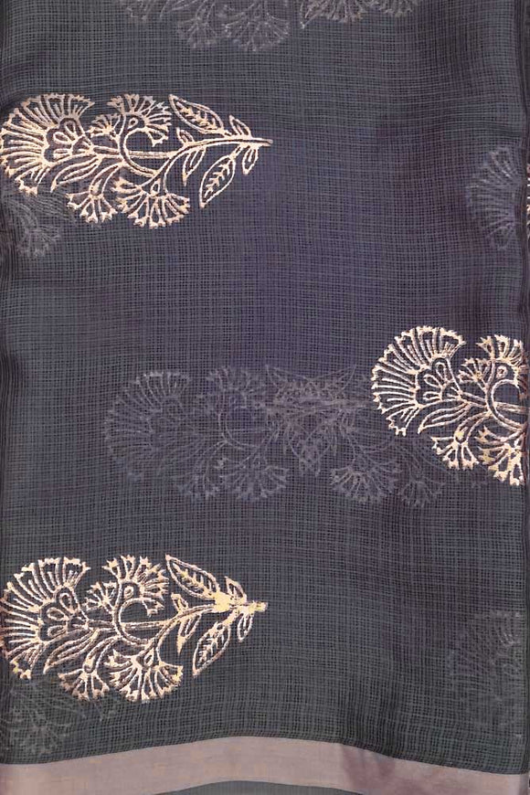 Kota Silk Fabric with Foil print