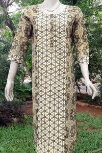 Ajrakh Block Printed Cotton Long Kurta