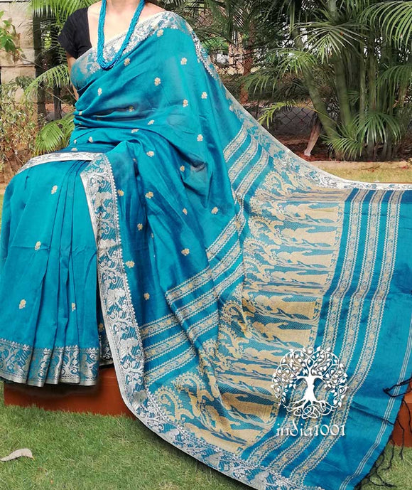 Beautiful Soft Cotton Baluchari sarees