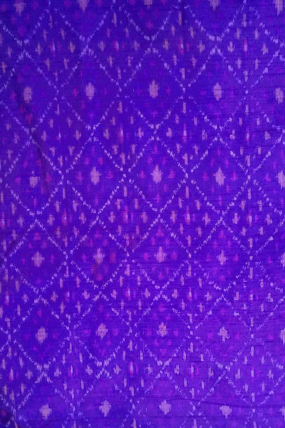 Handwoven Pure Raw Silk Double Ikat Fabric ( 2.5 mtrs)