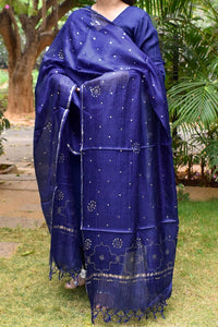 Beautiful Kota Silk Dupatta with hand done Muqaish work