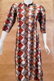 Dabu Block Printed  Cotton Long Kurta