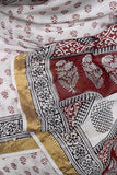 Maheshwari Cotton Saree with Bagh Block Print