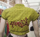 Cotton Blouse/crop top with Hand Embroidery & Applique work