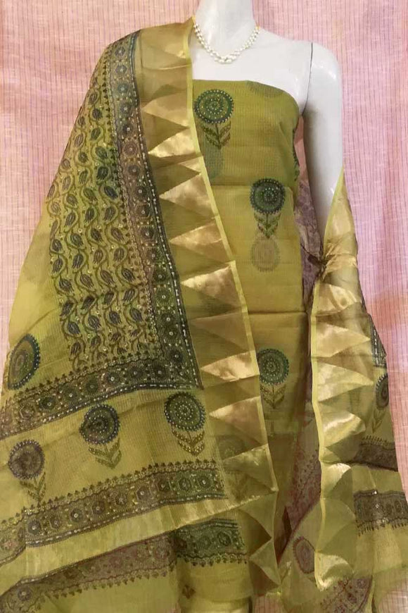 Elegant Kota Silk Dupatta and Kurta Fabric