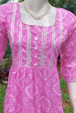 Elegant Cotton dress with Gota Work