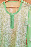 Elegant Georgette Long Kurta with Chikankari Size - 40
