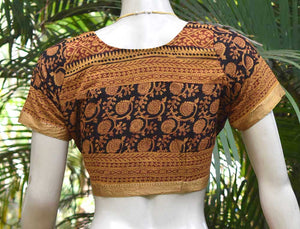 Block Printed cotton Blouse - Size 36 , 38 , 40