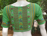 Beautiful Cotton Blouse with hand done Lambani work - Size 38 ( can be extended )