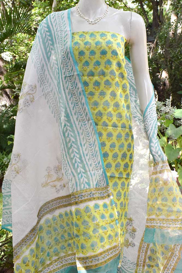 Elegant Kota unstitched suit fabric