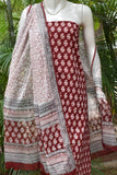 Elegant Bagh Block Printed unstitched suit fabric