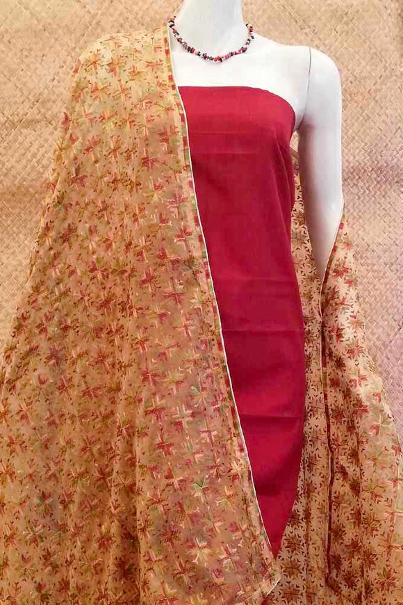 Beautiful Chiffon dupatta with Phulkari work
