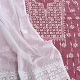 Kota dupatta  & Ikkat cotton Kurta with Hand Chikankari Embroidery