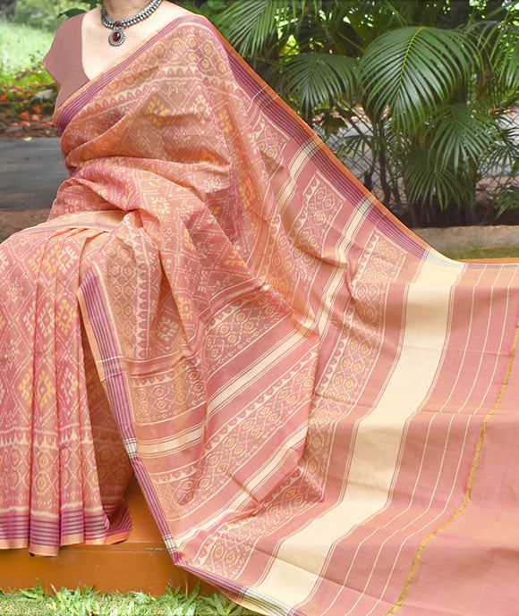 Beautiful Handwoven Patola Cotton Saree