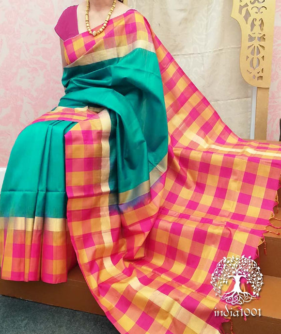 Fine Handwoven Pure Soft Silk Saree