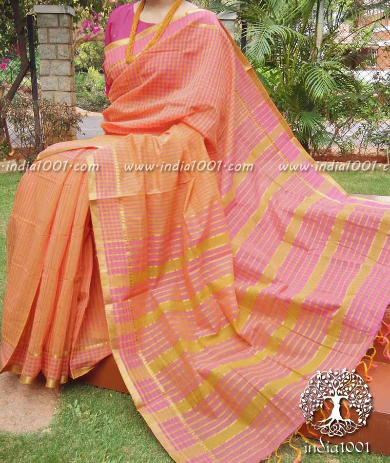 Elegant Mangalgiri Cotton Saree