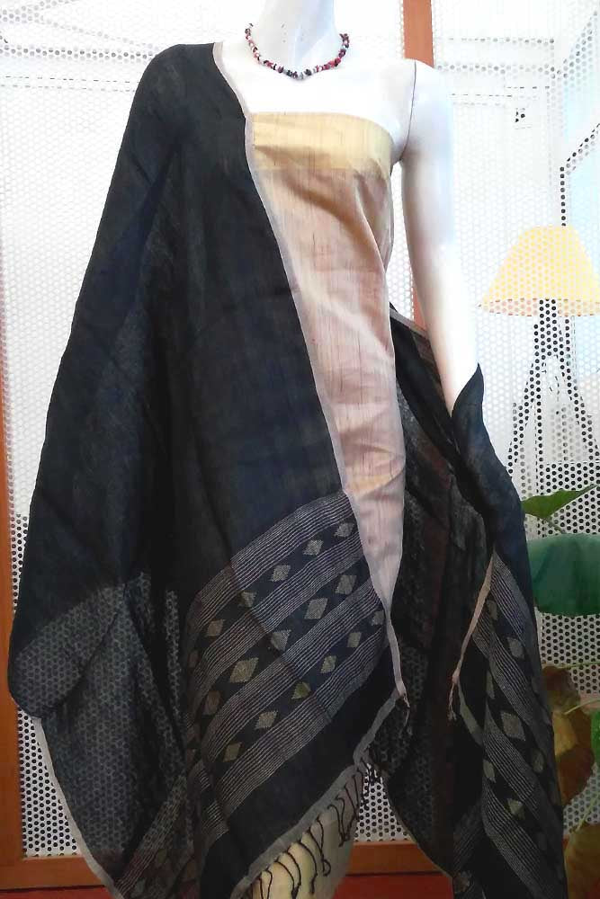 Elegant Linen Dupatta with woven patterns