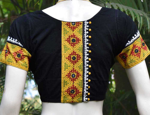 Cotton Blouse with Hand embroidery & Mirror work - size 40