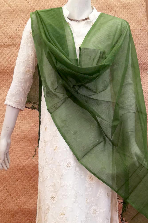 Elegant Kota Dupatta with Single Dye