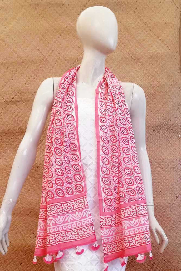 Elegant Hand block printed Cotton stole