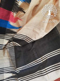 Beautiful Dupion Silk Saree with woven temple borders