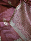 Elegant Handwoven Pure Kosa Silk Saree with heavy Dhaani bootis