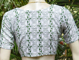 Cotton Blouse with Hand embroidery  - size 38