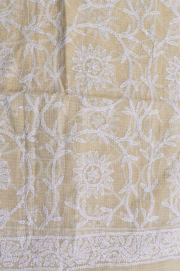 Hand Embroidered Full Jaal Chikankari work Kota Doria fabric / dupatta