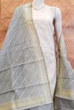 Woven Cotton silk Banarasi Dupatta with all over thread weaving