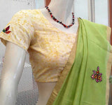 Cotton Blouse with Applique work- size - 36