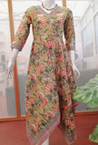 Elegant Cotton Dress In Beautiful Handkerchief Pattern