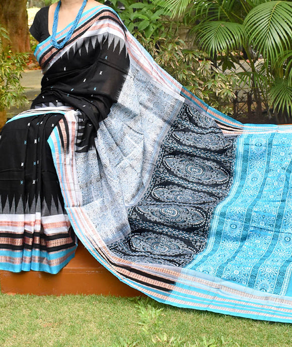 Elegant Handwoven Bomkai cotton Saree