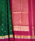 Elegant Handwoven Kovai Silk cotton Saree with gold & silver Zari weaving