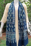 Beautiful Block Printed Ajrakh Cotton stole