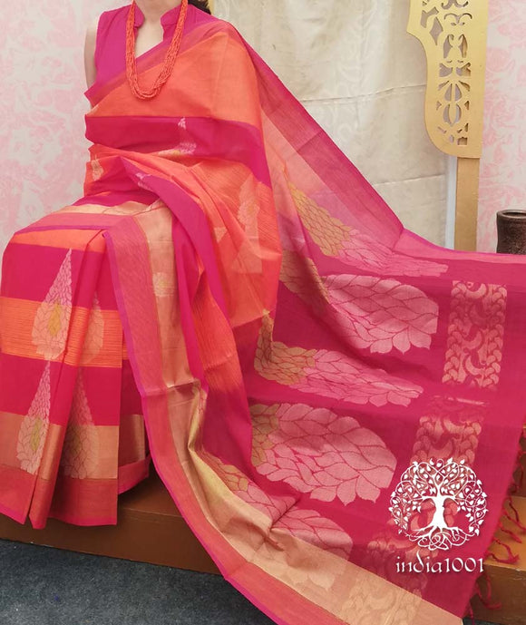 Elegant &  Fine Handwoven Dindigul Cotton saree