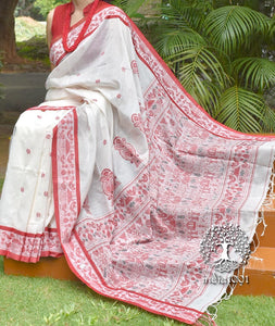 Elegant Handwoven Bengal Cotton saree