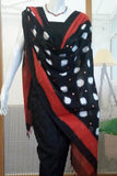 Elegant Woven Ikkat Dupatta with patti work