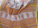 Sanganer Block Print Kota cotton Saree with zari border