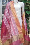 Beautiful Maheshwari si-co dupatta with Block Print