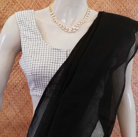 Woven Cotton Sleeveless Blouse Size- 38