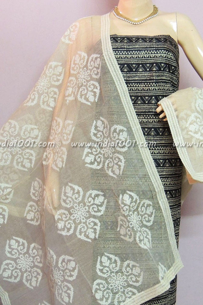 Beautiful Rayon Cotton Unstitched Suit Fabric