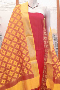 Woven Si-co dupatta with zari and thread weaving