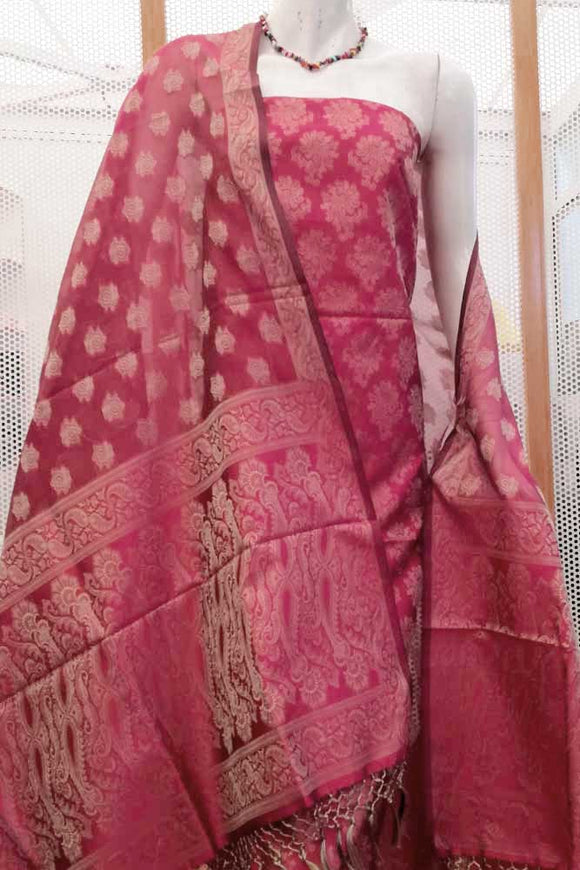Elegant Banarasi Si-Co Unstitched Suit